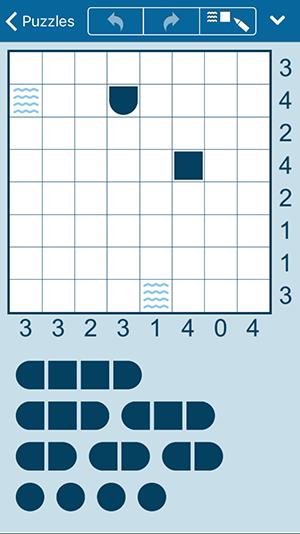 iPhone & iPad版 海戦パズル (iPhone)