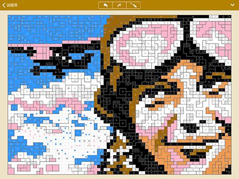 支持iPhone和iPad的像素填色拼图 (iPad)